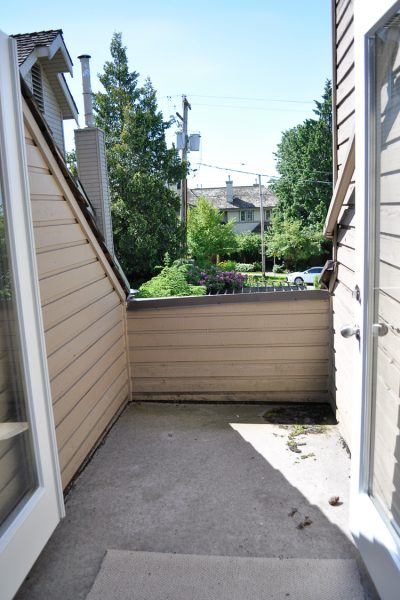 Before photo of the very small patio