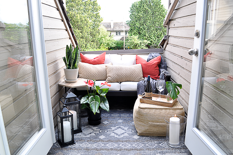 DIY outdoor patio on a budget.
