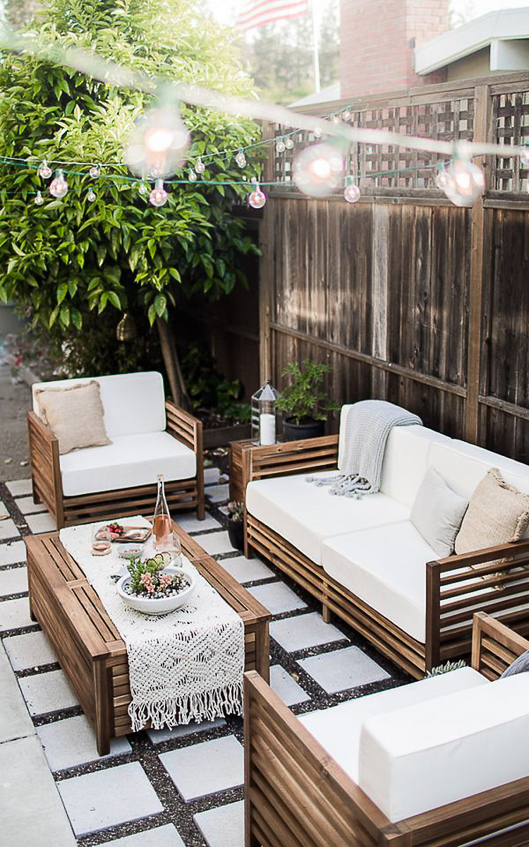 Planning an outdoor space.