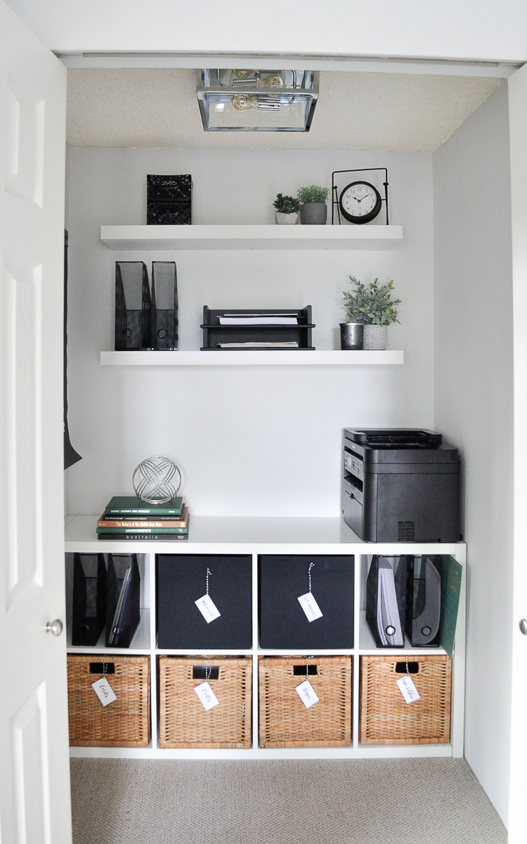 Budget office makeover storage