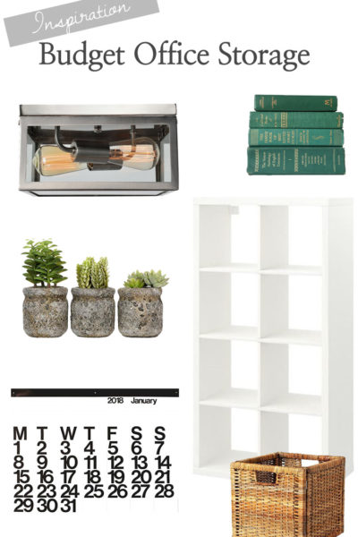 Budget office storage makeover