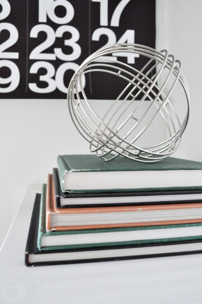 Thrift store book hack to create a vintage look