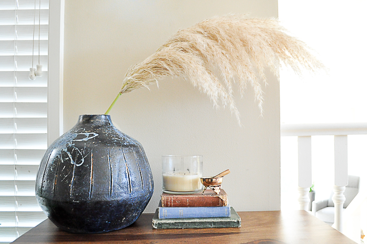 pampas grass and vase