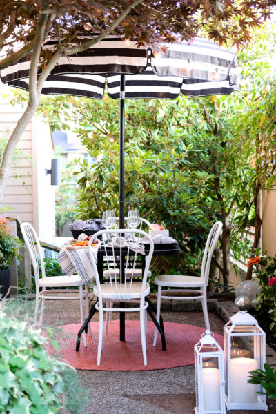 After outdoor patio dining